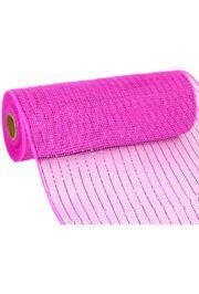 10in Wide x 30ft Long Poly Mesh Roll: Metallic Hot Pink