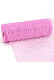 10in Wide x 30ft Long Poly Mesh Roll: Metallic Pink