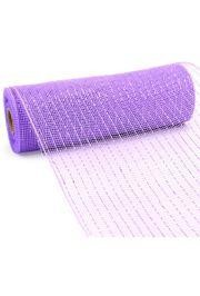 10in Wide x 30ft Long Poly Mesh Roll: Metallic Lavender