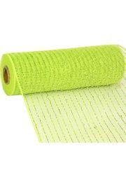 10in Wide x 30ft Long Poly Mesh Roll: Metallic Apple Green