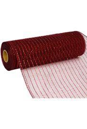 10in Wide x 30ft Long Poly Mesh Roll: Metallic Burgundy