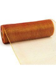 10in Wide x 30ft Long Poly Mesh Roll: Plain Burgundy/ Gold