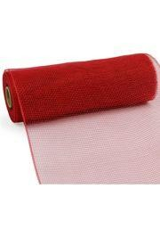 10in Wide x 30ft Long Poly Mesh Roll: Plain Red