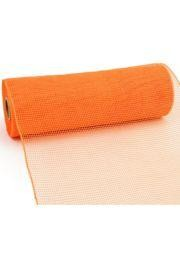 10in Wide x 30ft Long Poly Mesh Roll: Two Tone Orange/ Gold Plain