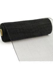 10in Wide x 30ft Long Poly Mesh Roll: Plain Black
