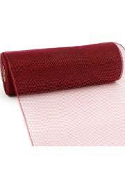 10in Wide x 30ft Long Poly Mesh Roll: Plain Burgundy