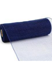 10in Wide x 30ft Long Poly Mesh Roll: Plain Navy Blue