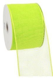 4in Wide x 75ft Long Poly Mesh Roll: Plain Apple Green