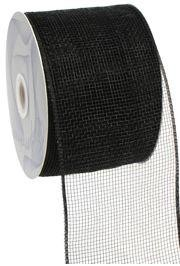 4in Wide x 75ft Long Poly Mesh Roll: Plain Black