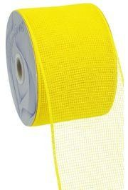 4in Wide x 75ft Long Poly Mesh Roll: Plain Yellow