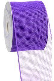 4in Wide x 75ft Long Poly Mesh Roll: Plain Purple
