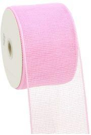 4in Wide x 75ft Long Poly Mesh Roll: Plain Pink