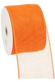 4in Wide x 75ft Long Poly Mesh Roll: Plain Orange