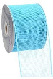 4in Wide x 75ft Long Poly Mesh Roll: Plain Turquoise