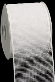 4in Wide x 75ft Long Poly Mesh Roll: Plain White