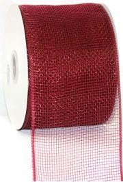 4in Wide x 75ft Long Poly Mesh Roll: Plain Burgundy