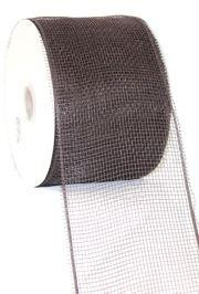 4in Wide x 75ft Long Poly Mesh Roll: Plain Brown