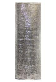 21in x 30ft Deluxe Metallic Silver Mesh Ribbon/ Netting