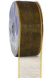 2.5in Wide x 75ft Long Two Tone Mesh Roll Black/ Gold