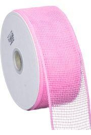 Mesh Ribbon Roll Plain Pink
