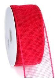 Mesh Ribbon Roll Plain Red