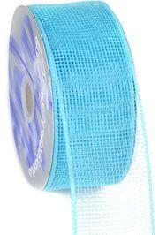 Mesh Ribbon Roll Plain Turquoise