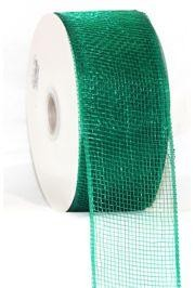 Mesh Ribbon Roll Plain Green