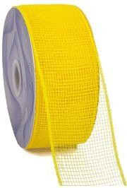 Mesh Ribbon Roll Plain Yellow