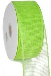 2.5in Wide x 75ft Long Mesh Roll Plain Apple Green