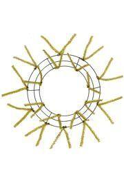 Tinsel Work Wreath Form: Metallic Gold