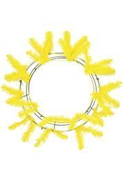 Yellow Elevated Work Wreath Form