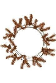 Chocolate Brown Elevated Work Wreath Form