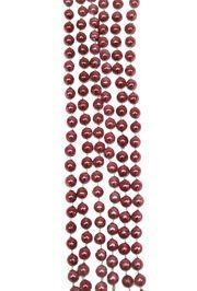 7mm 33in Burgundy/Pink Beads/Color May Vary