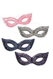 Assorted Colors Sequin Masquerade Masks