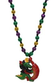 Alligator and Crawfish Dancing Necklace