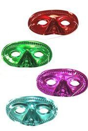 Assorted Metallic Color Eye Masquerade Masks