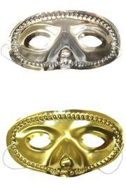 Assorted Metallic Gold or Silver Color Eye Masquerade Masks