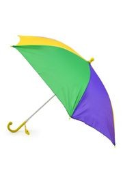 18in Long Nylon Mardi Gras Umbrella w/ Plain Edge