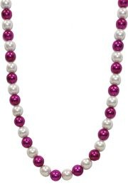 White Pearl and Hot Pink Bead