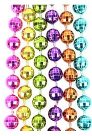7mm 33in Metallic Neon 6-Color Mardi Gras Beads