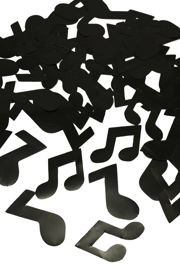 3in Assorted Music Note Black Confetti