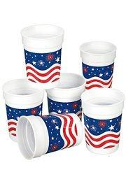 10oz Plastic Patriotic Cups