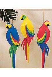 21in Foam Jumbo Parrots