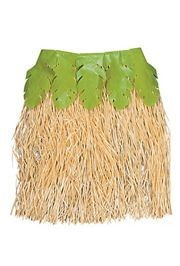 Raffia Hula Skirt With Palm Leaves
