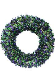 Shiny Mardi Gras Tinsel Wreath