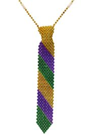14in Mardi Gras Beaded Necktie