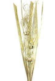 45in Tall Glittered Gold Natural Bouquet