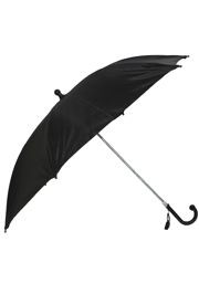18in Long Nylon Black Umbrella w/ Plain Edge