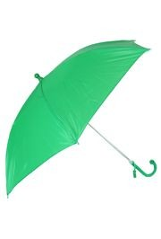 18in Long Nylon Green Umbrella w/ Plain Edge