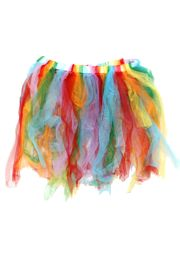 Rainbow Colors Tutu Skirt Kids Size